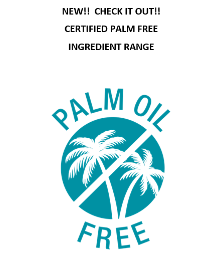 Certified Palm-Free Ingredients Range